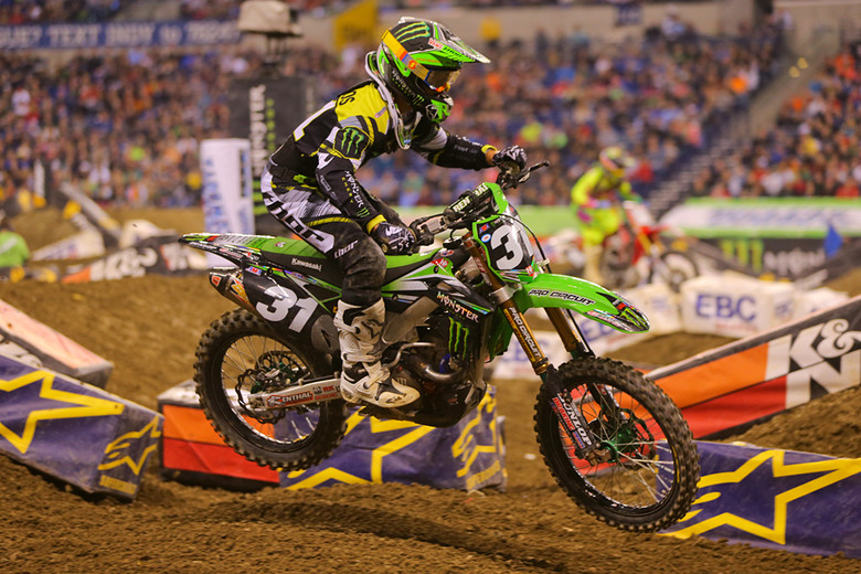 2. Martin Davalos (Monster Energy Pro Circuit Kawasaki) couldn't quite duplicate his Atlanta win, but he's been on the podium every round so far. The track bit him here, but he's only five points back of his teammate in the title chase.