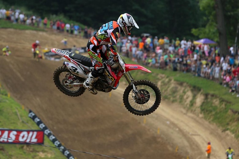 Eli Tomac (GEICO Honda) cleaned up at Millville, sweeping both motos in convincing fashion.