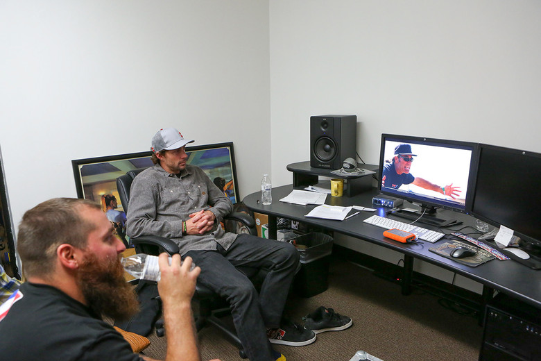 Travis Pastrana missed out on the premiere, but got to watch the movie on DVD. Photo: Michael Lindsay.