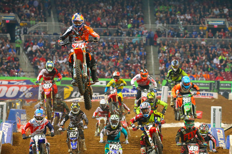 This is pretty much how Marvin Musquin has been all season in the 250 East...head and shoulders above the competition.