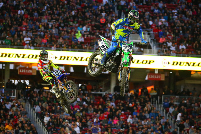 Chad Reed scored a slightly odd heat race win. He was behind Cole Seely, when a course worker pushed a downed bike right in front of him. By the time Cole recovered, he had to race the semi, and Reedy was enjoying the heat win.