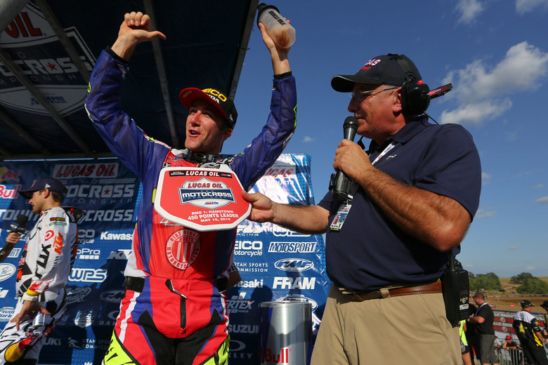 Yep, Eli Tomac was pumped with the idea of rocking the red plate next week at Glen Helen.