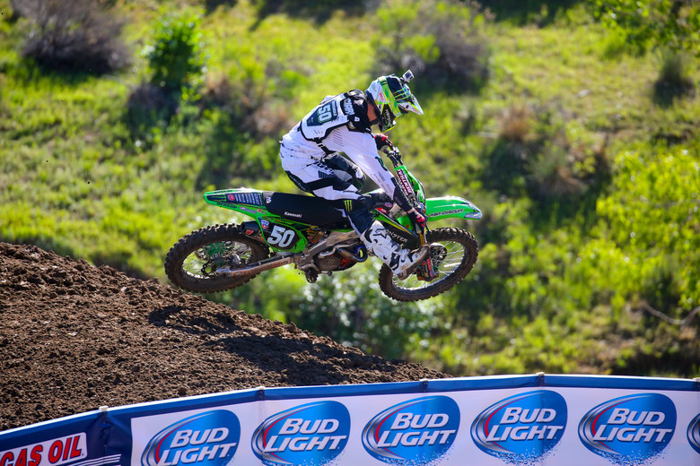 Adam Cianciarulo was third-quickest among the 250s.