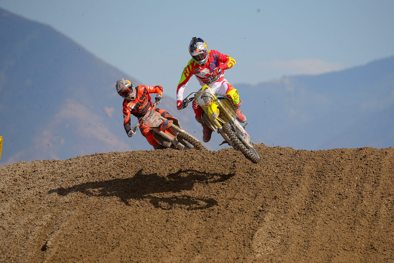 Ken Roczen had the lead in both motos, but couldn't hold off Ryan Dungey.