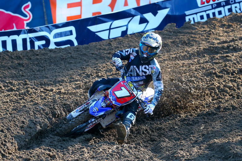 The top of the 250 time sheets looks the same as the point standings, with Jeremy Martin out front.