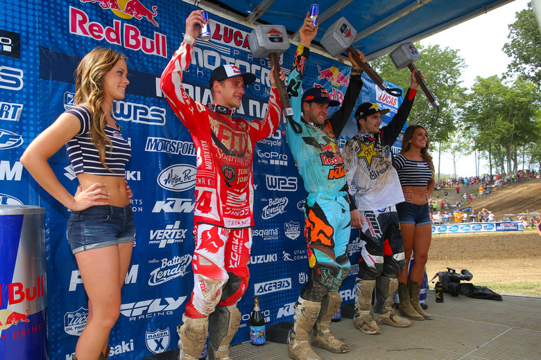 Here's your final 450 podium of the season, with Dungey, Roczen, and Anderson.