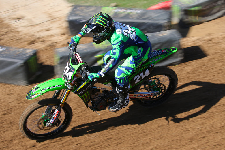 Austin Forkner got to ride press day on Friday, and it looked like the extra track time helped. He was on his game, and took the top qualifying spot among the amateurs.