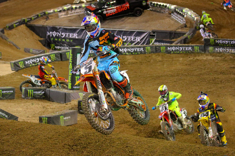 Ryan Dungey scored his fourth second-place overall finish in the Monster Energy Cup.