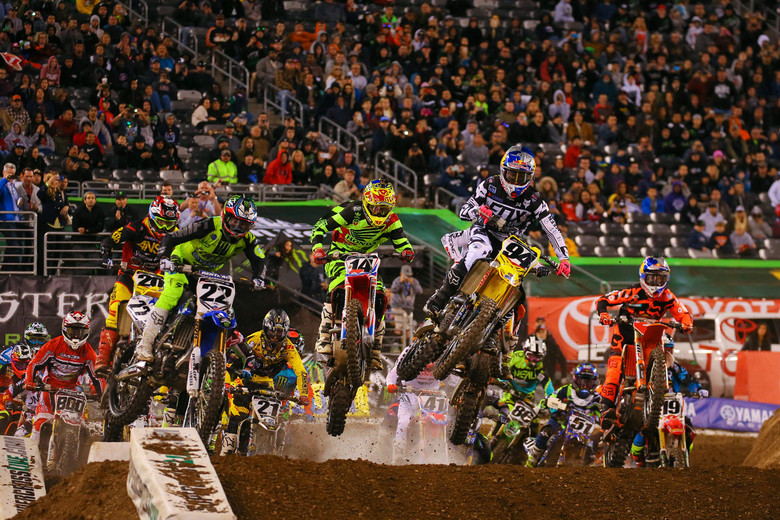 Ken Roczen had a good start, some clear track, and he ran away with this race.