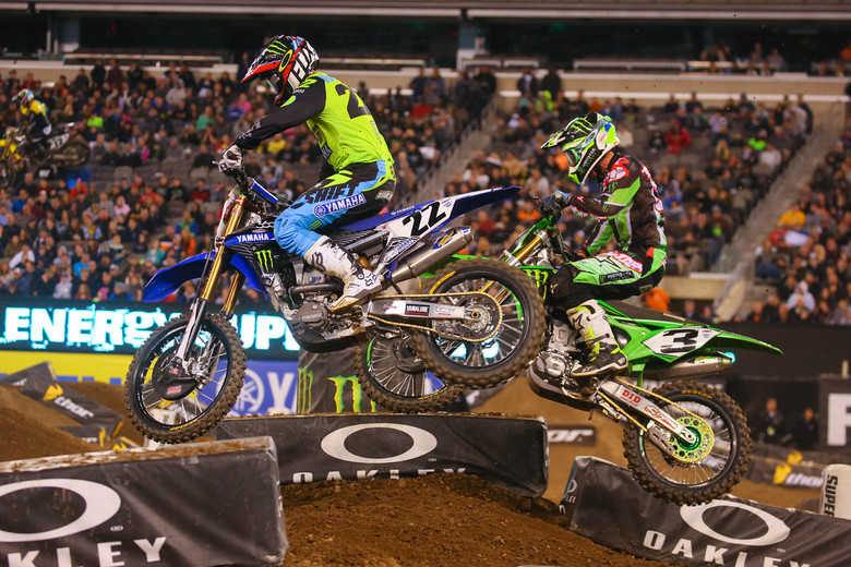 Chad Reed was racy early, battling with Dungey, and then Tomac.