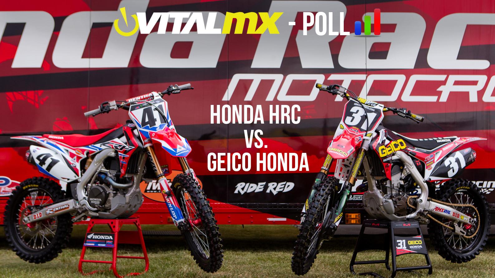 Vital MX Poll: Honda HRC VS. Geico Honda - Motocross Feature Stories