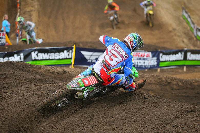 Eli Tomac was about a half-second off of Ken Roczen's lap in qualifying.