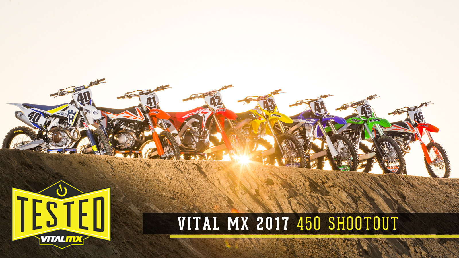 2017 Vital MX 450 Shootout - Motocross Feature Stories