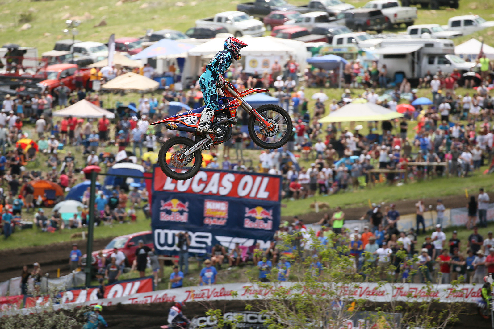 Alex Martin went wire-to-wire in the first 250 moto, scoring a win. He backed it up with a fourth the second time around.