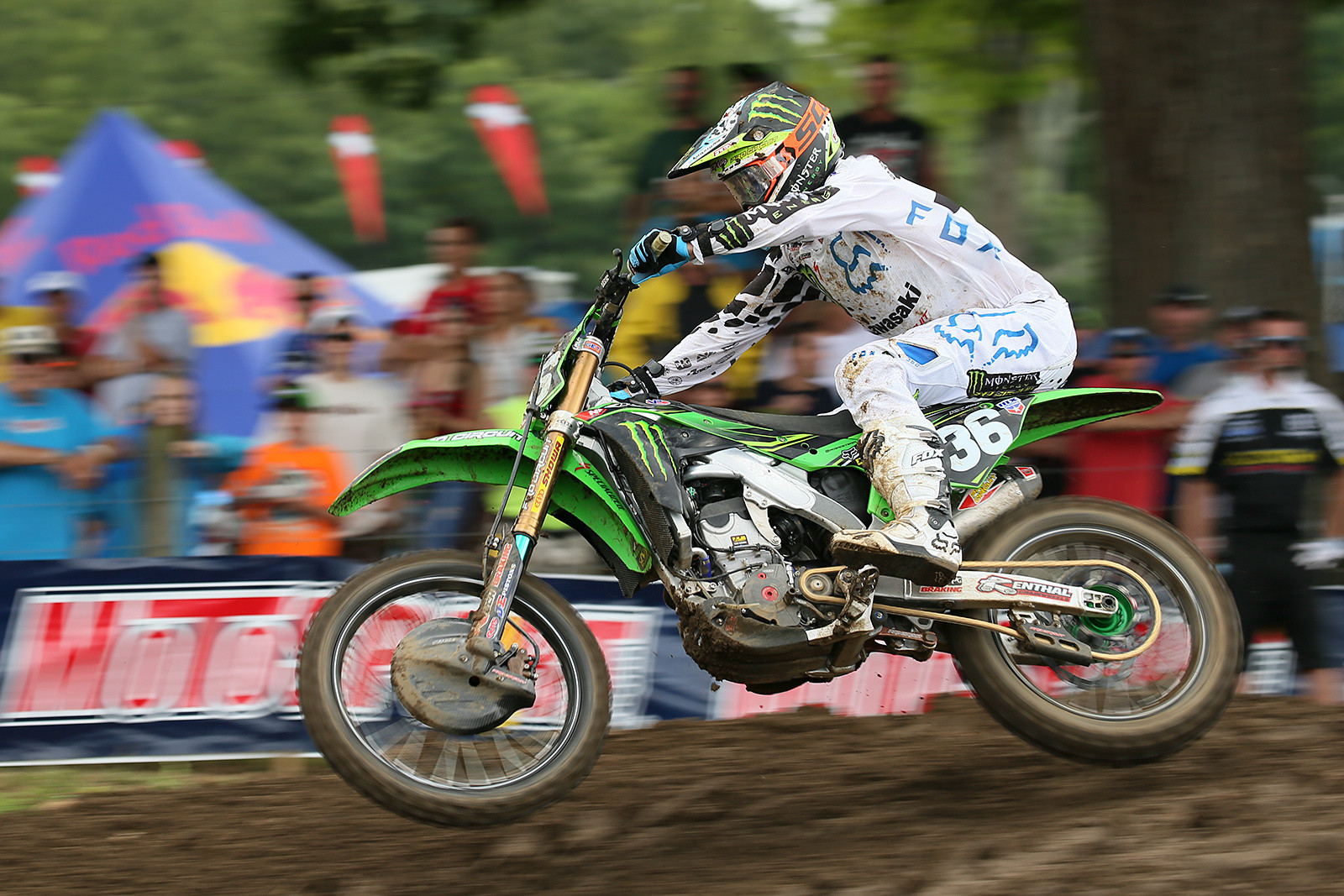 Adam Cianciarulo rolled in second in the first frame of the 250s, but he slipped to fifth in moto two, and was fourth overall.