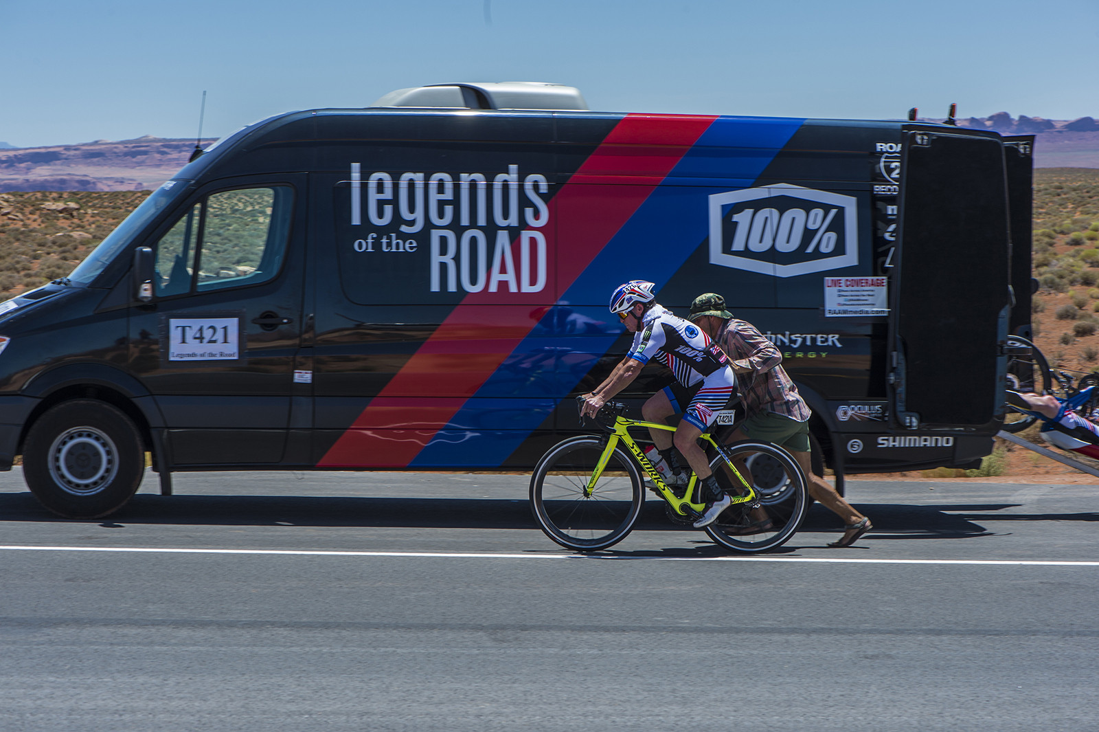 This Sprinter and its crew provided around-the-clock support to Legends all the way across the country.
