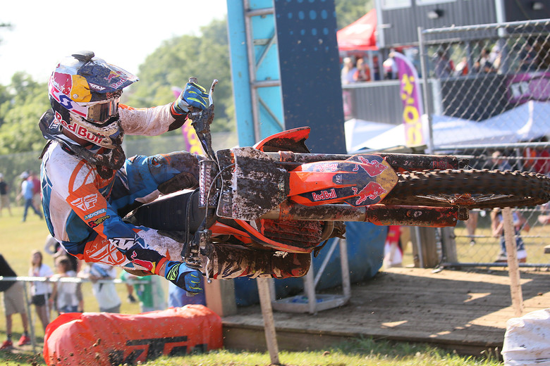 Trey Canard qualified seventh in his second race back.