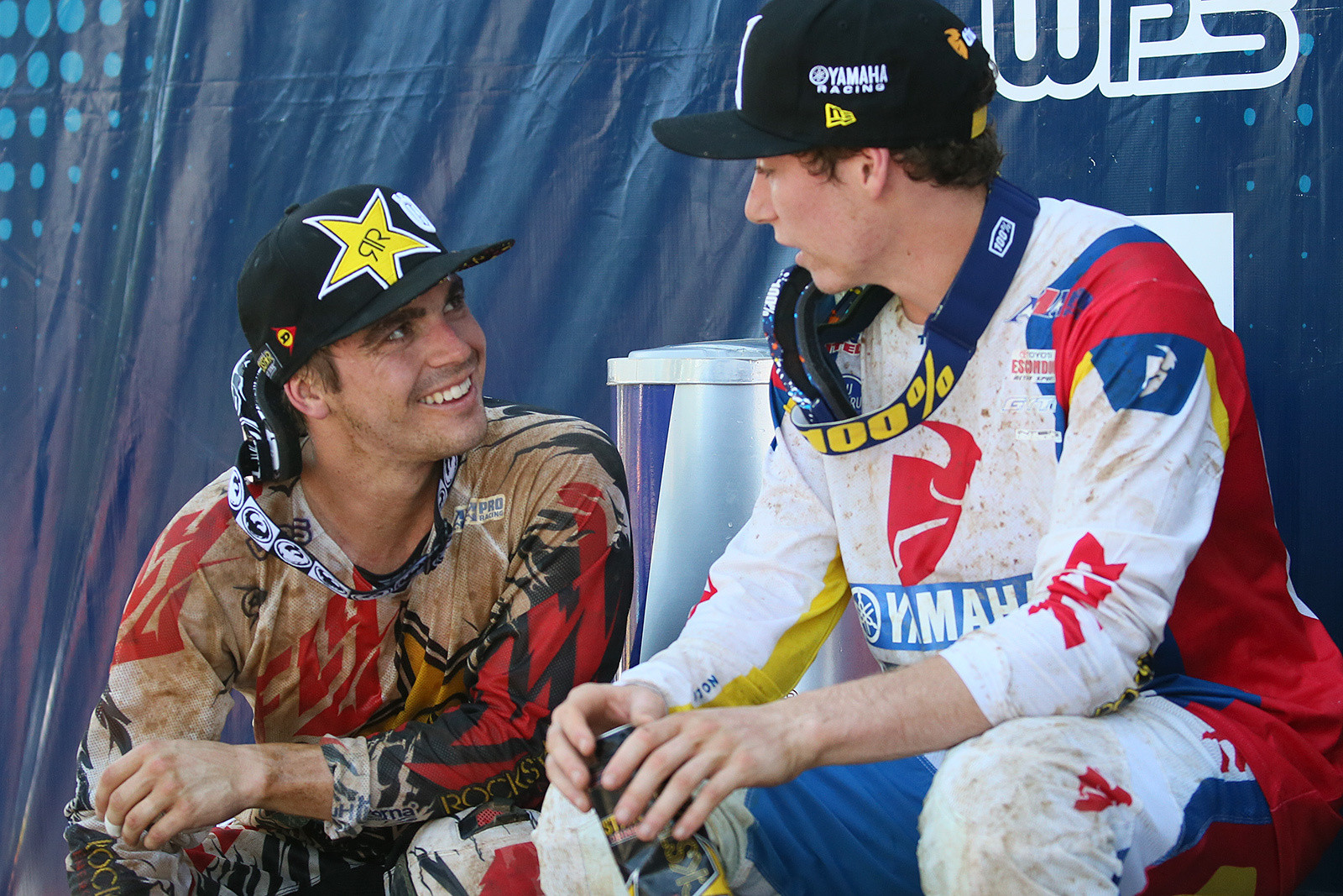Mitchell was pumped to get up on the podium for his second moto finish, and was nearly on there to score a trophy. Jeremy Martin's win in the first moto gave him the extra points needed to keep him up there.