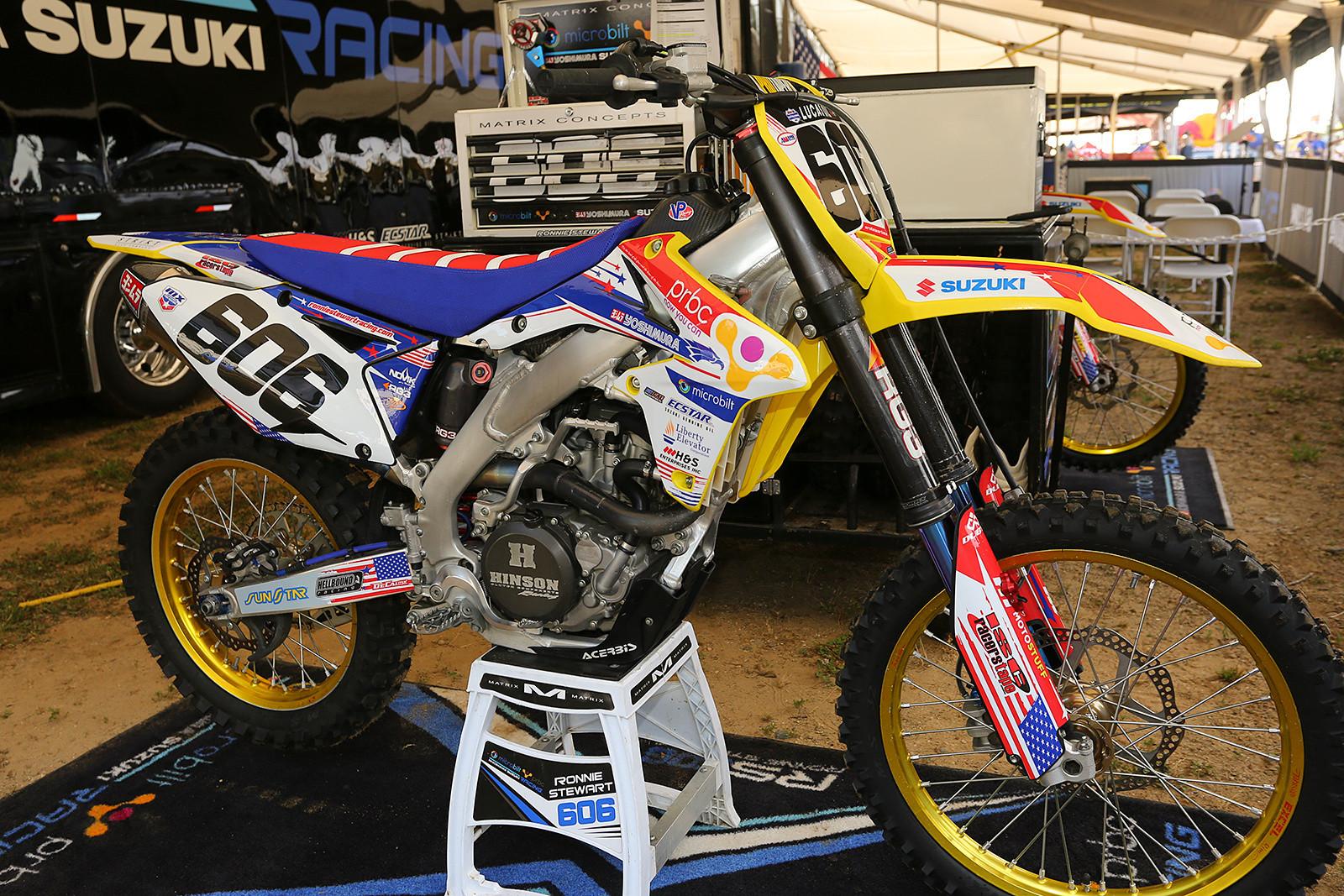 Ronnie Stewart's Team MicroBilt/PRBC Suzuki.