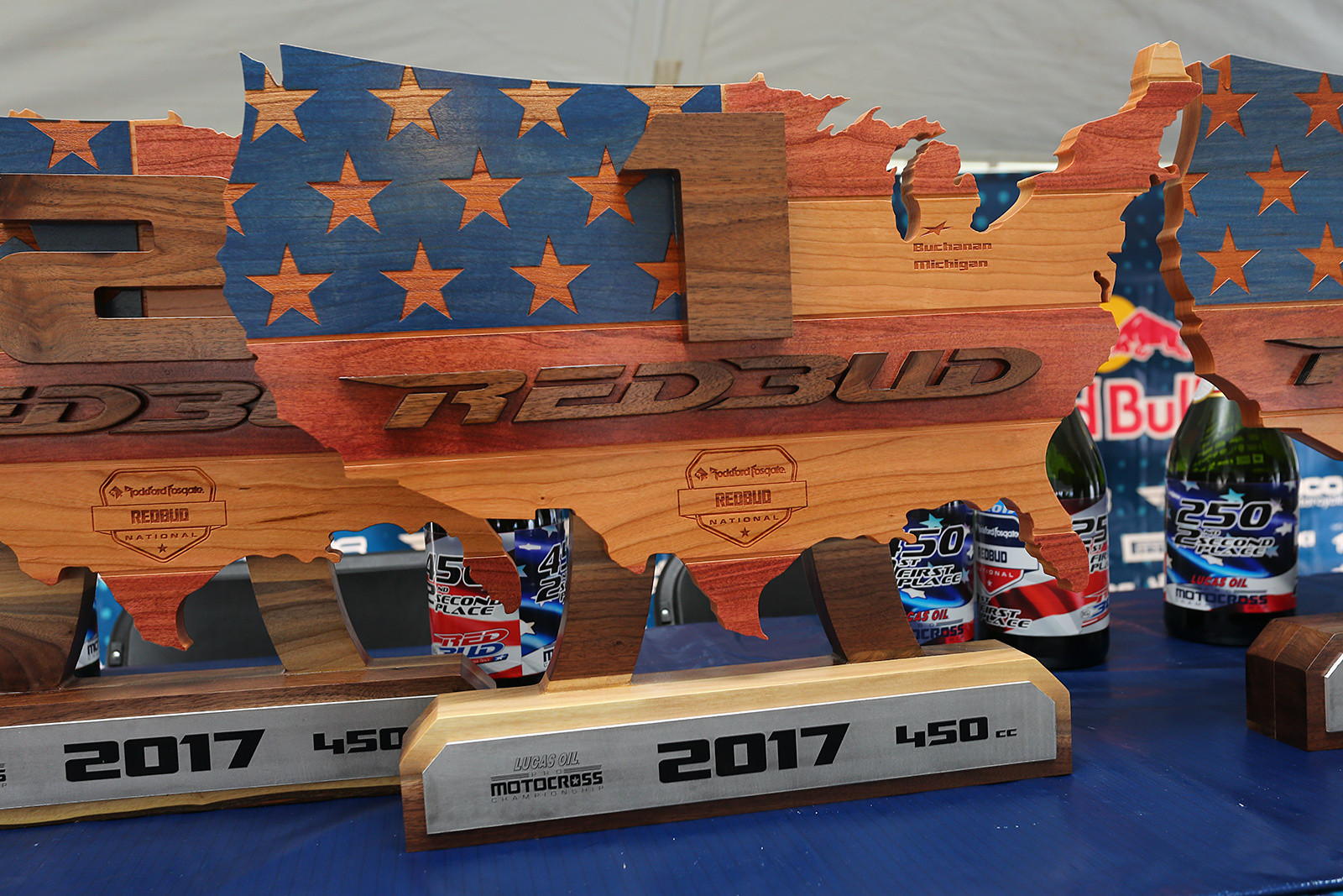 The trophies for the weekend were really cool. It's amazing the variety of awards that you'll see during the year.