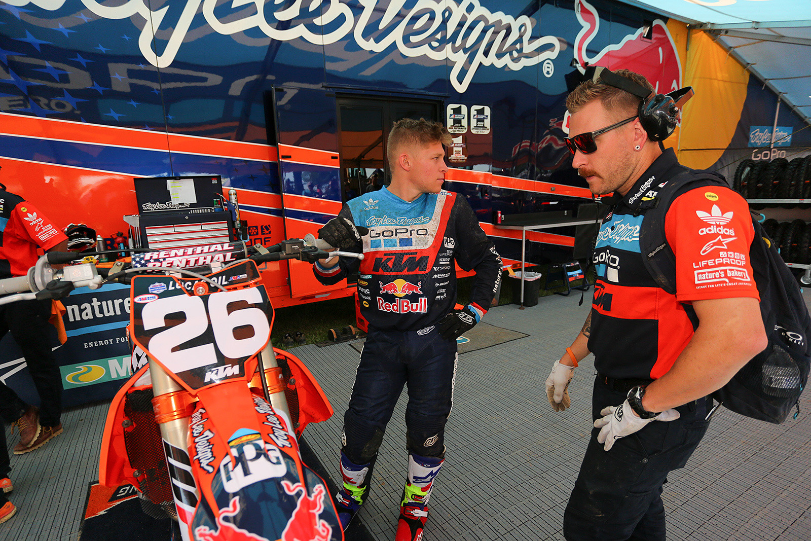 Yeah, the moustache is getting strong for Alex Martin's mechanic, Jordan Troxel. Almost Magnum-like.