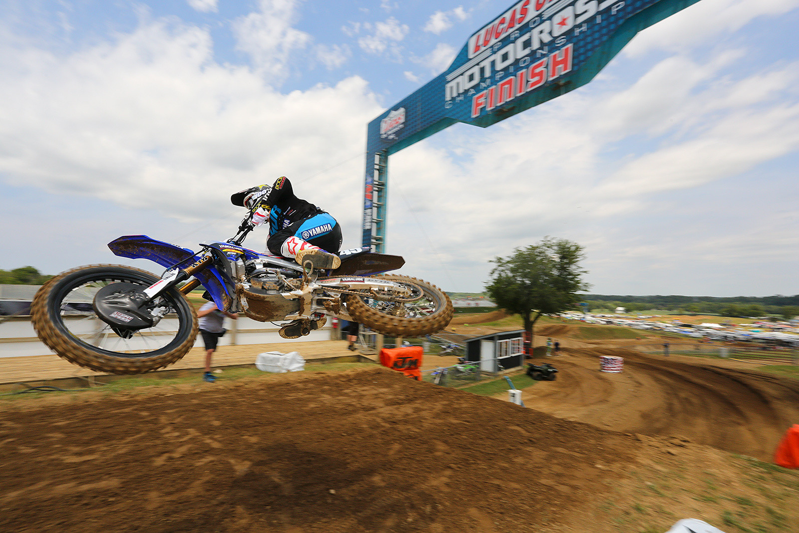 Mitchell Harrison has made huge strides forward in speed and fitness this season, and he put in his best-ever moto result, a second, hot on the heels of Zach Osborne.