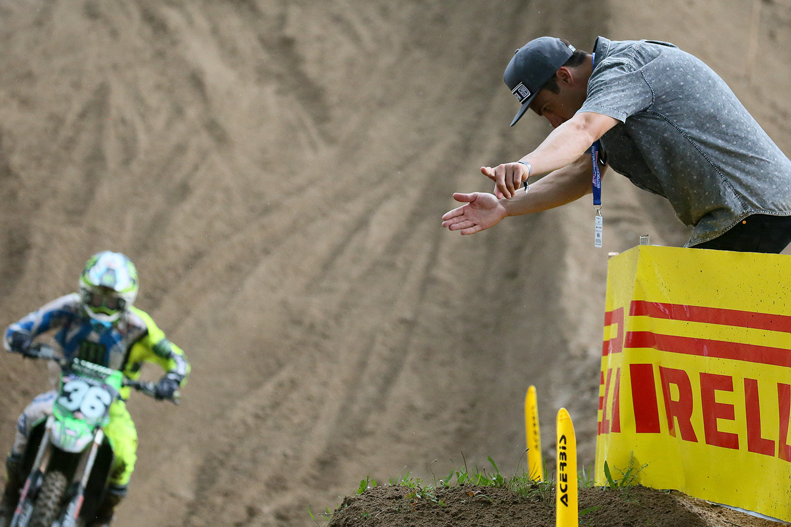 Nick Wey (right) showing the way for Adam Cianciarulo.
