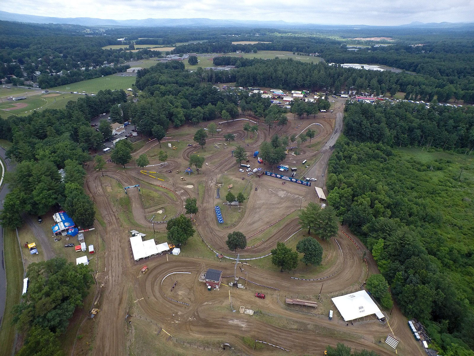 "Southwick was in great shape for this year's annual visit. Checking in with John Dowd, he said they'd brought in about 30 loads of new sand...pretty much all they could get their hands on. While the riders said they still feel the base (and we saw a few spots where it was evident), there's no doubt this is the most ""different"" racing surface we hit during the Nationals all year. Interestingly, RedBud may be second in that category, since it does have some big sandy sections, and varies from side-to-side in the material used for the track surface."