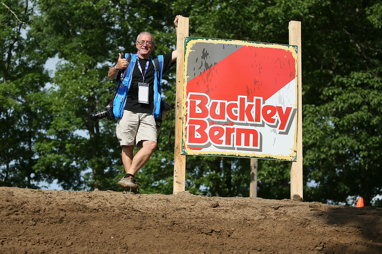 It's always good to see Paul Buckley, who made this section of Southwick famous by shooting some legendary photos there. Having a part of a track named for you? That's great. Seeing it commemorated? That takes it up a few notches to awesome.