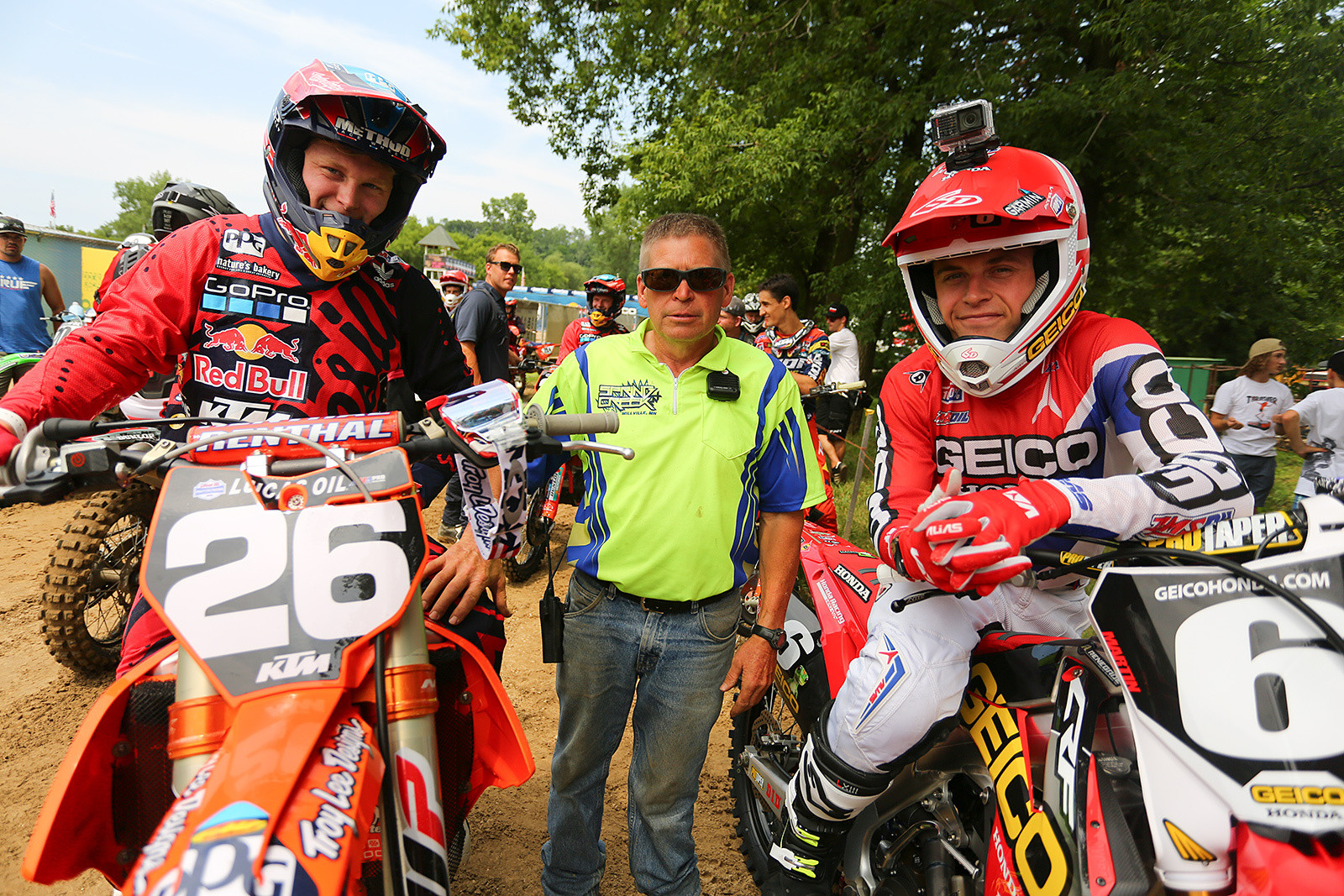 When you head to Millville, you're in Martin country. From left to right, it's Alex, John, and Jeremy Martin.