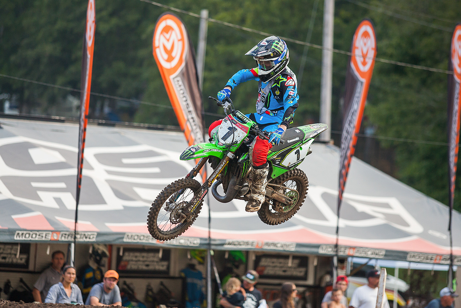 If Kawasaki Team Green's Jett Reynolds keeps up his fast riding and good fortune he will add two more titles to the eight consecutive he already has (and that's the record!)