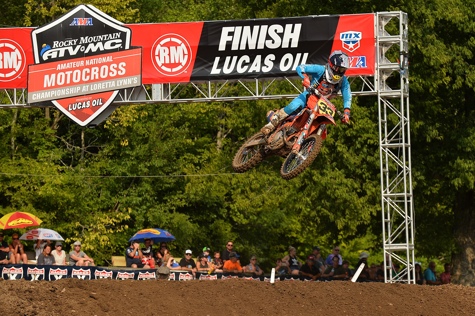 Red Bull/TLD KTM's Derek Drake has been perfect in the 250B Limited class at Loretta Lynn's, taking home the championship.