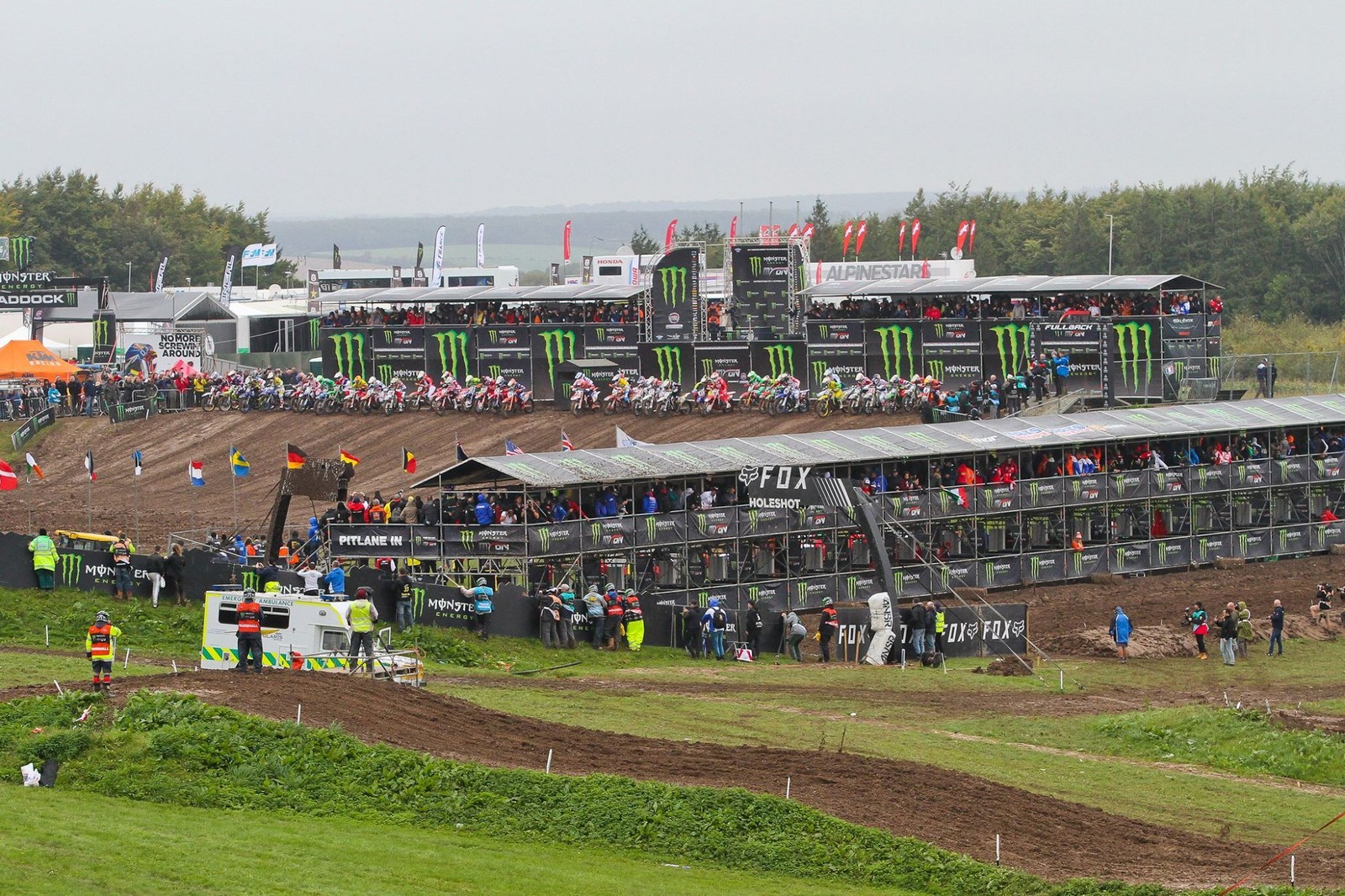 The BMX-style start straight certainly made things a bit more interesting on what's already a totally beautiful Matterley Basin motocross track.