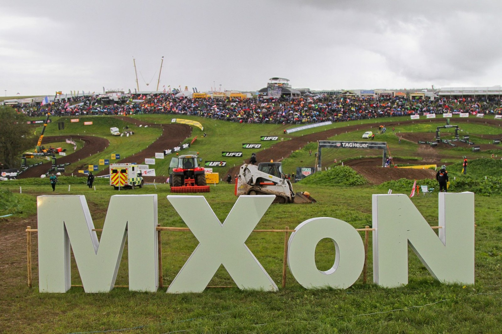 The MXoN sign and the green rolling valley that is Matterley Basin go together quite naturally...