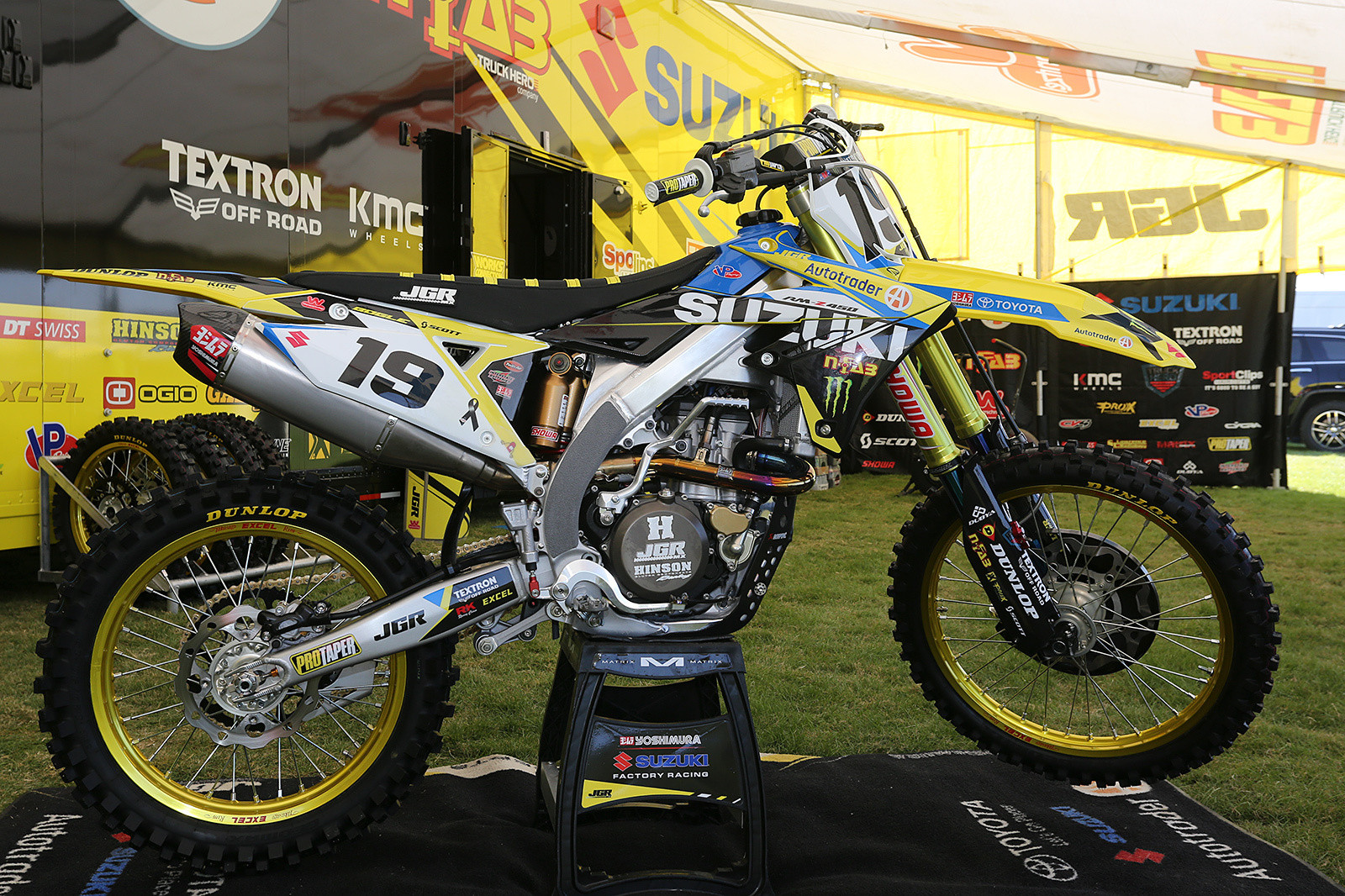 Justin Bogle will debut aboard the new AutoTrader/Yoshimura/Factory Suzuki Racing RM-Z450.