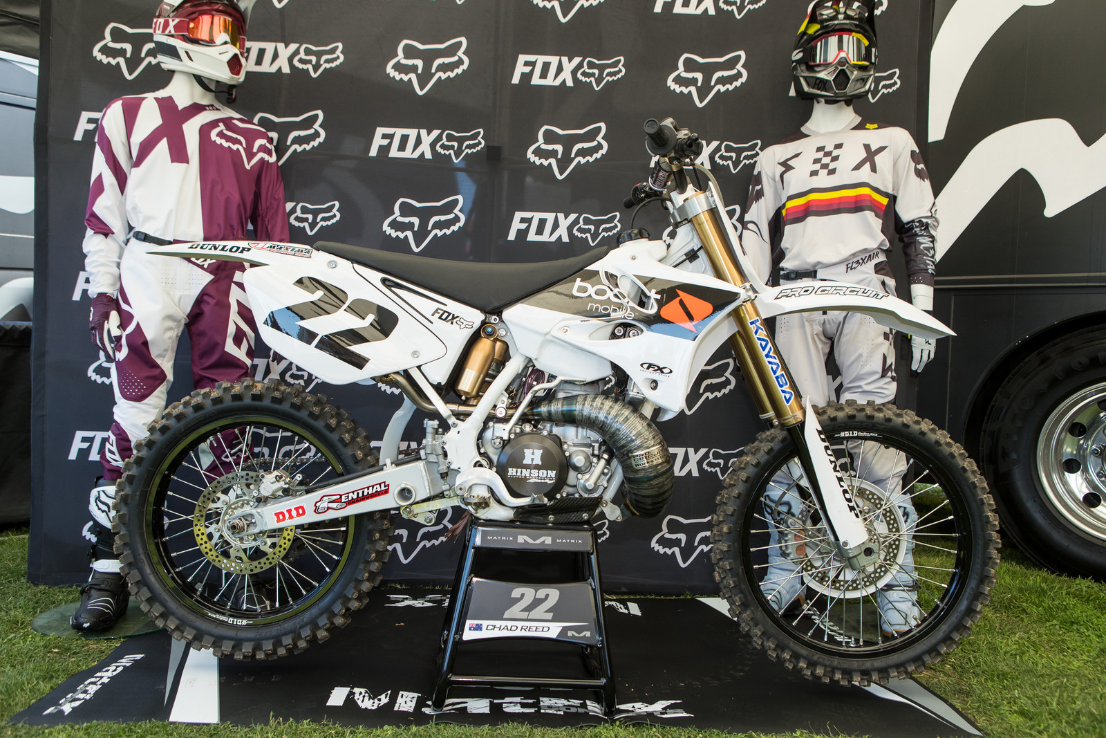 "Chad Reed's YZ250 (CR ""Chad Reed"" 250 by his words) did share something with his old factory YZ...a clean look. White, simple, and so drool-worthy."