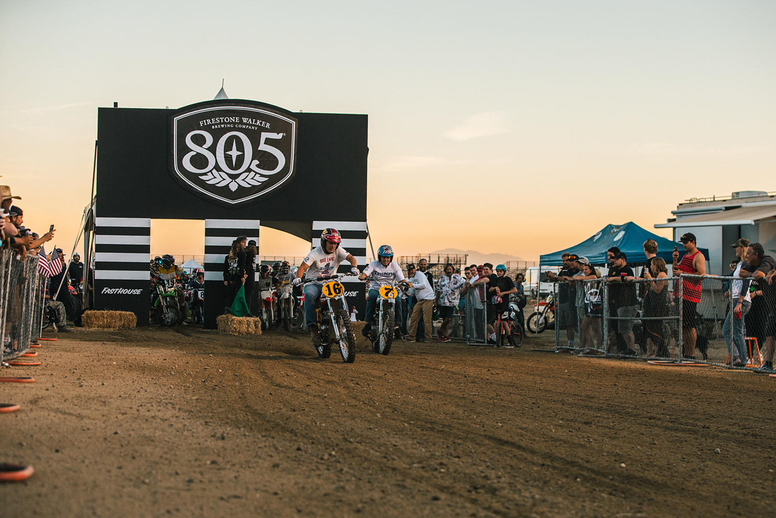 You'll see everything from minis to dirt-modded V-twins lining up to blast down the dirt strip.