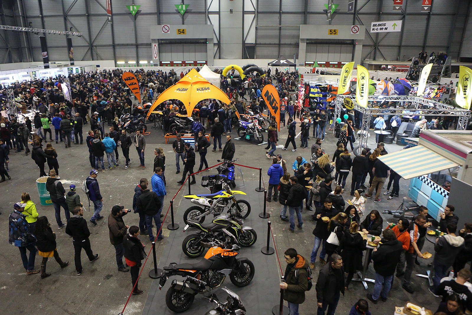 Besides the race action, there's also a huge expo attached to it, with displays from all the manufacturers.