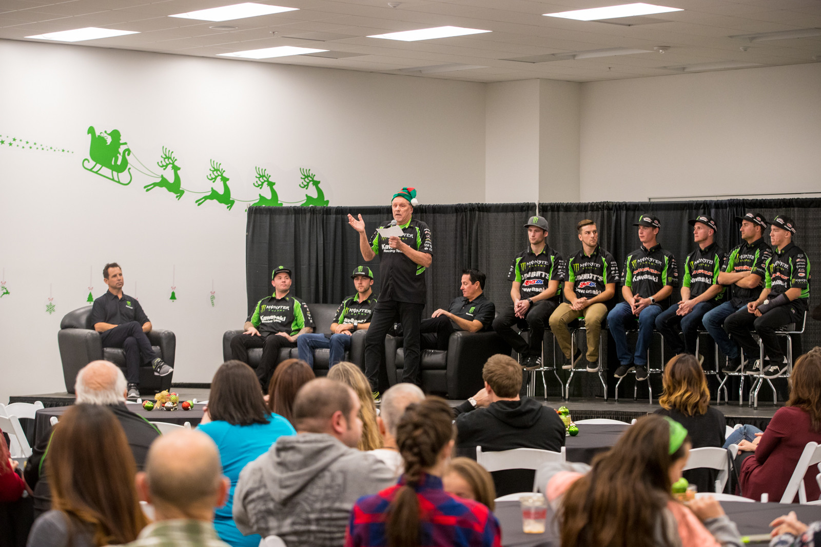 The night kicked off with a few words from management and the riders on each team, each sharing their goals for the new year.