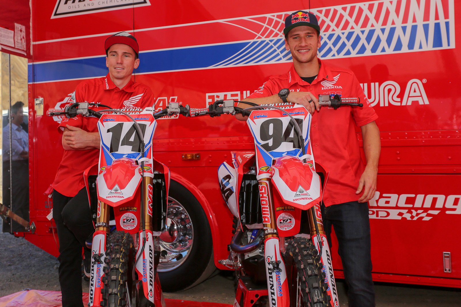 Just like last season Cole Seely and Ken Roczen make up the Team Honda HRC crew. Just making it back to the season after his arm rebuild is already a huge win for Ken and the team. Cole may be coming in under the radar, but he's been looking very fast and smooth when we've seen him recently.