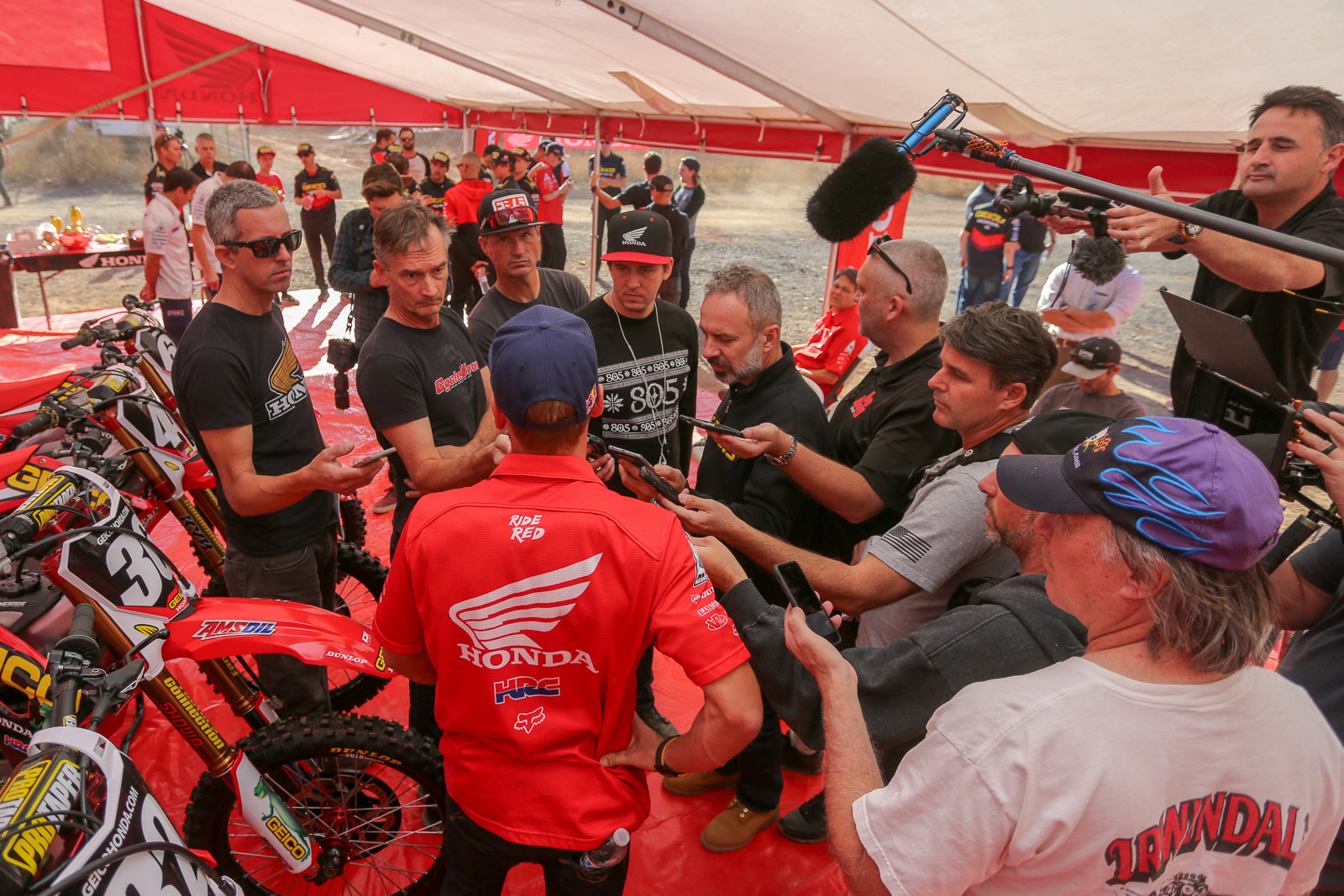 After being off the radar for so long, Ken Roczen was in high demand with the assembled media.