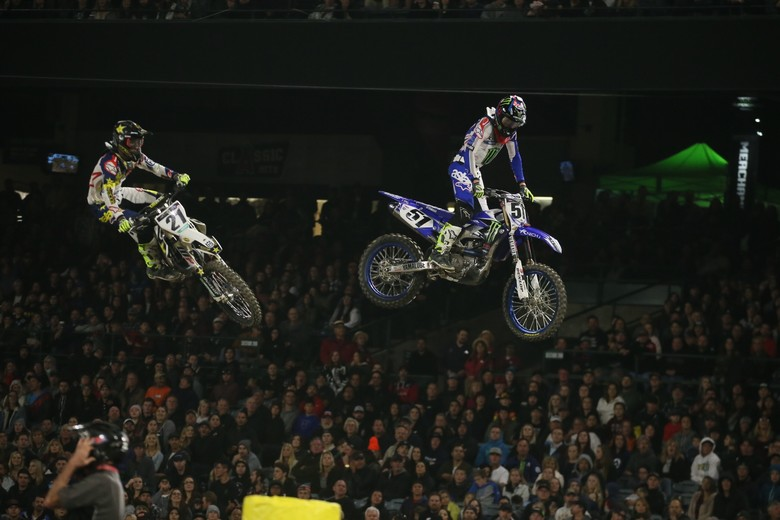 Jason Anderson and Justin Barcia went at it for second place, with Anderson getting the position this time.
