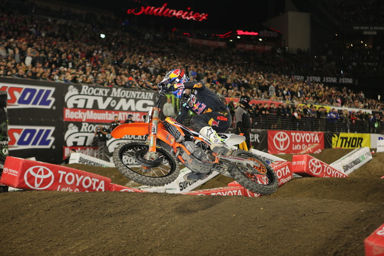 Marvin Musquin then took over the lead, and went on to take the win.