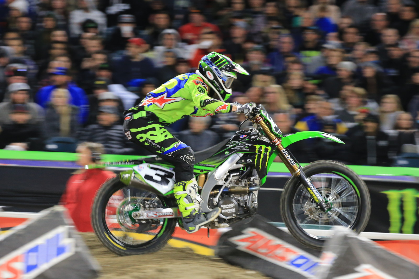 Eli Tomac on his way to the 450 Main Event 2 win.