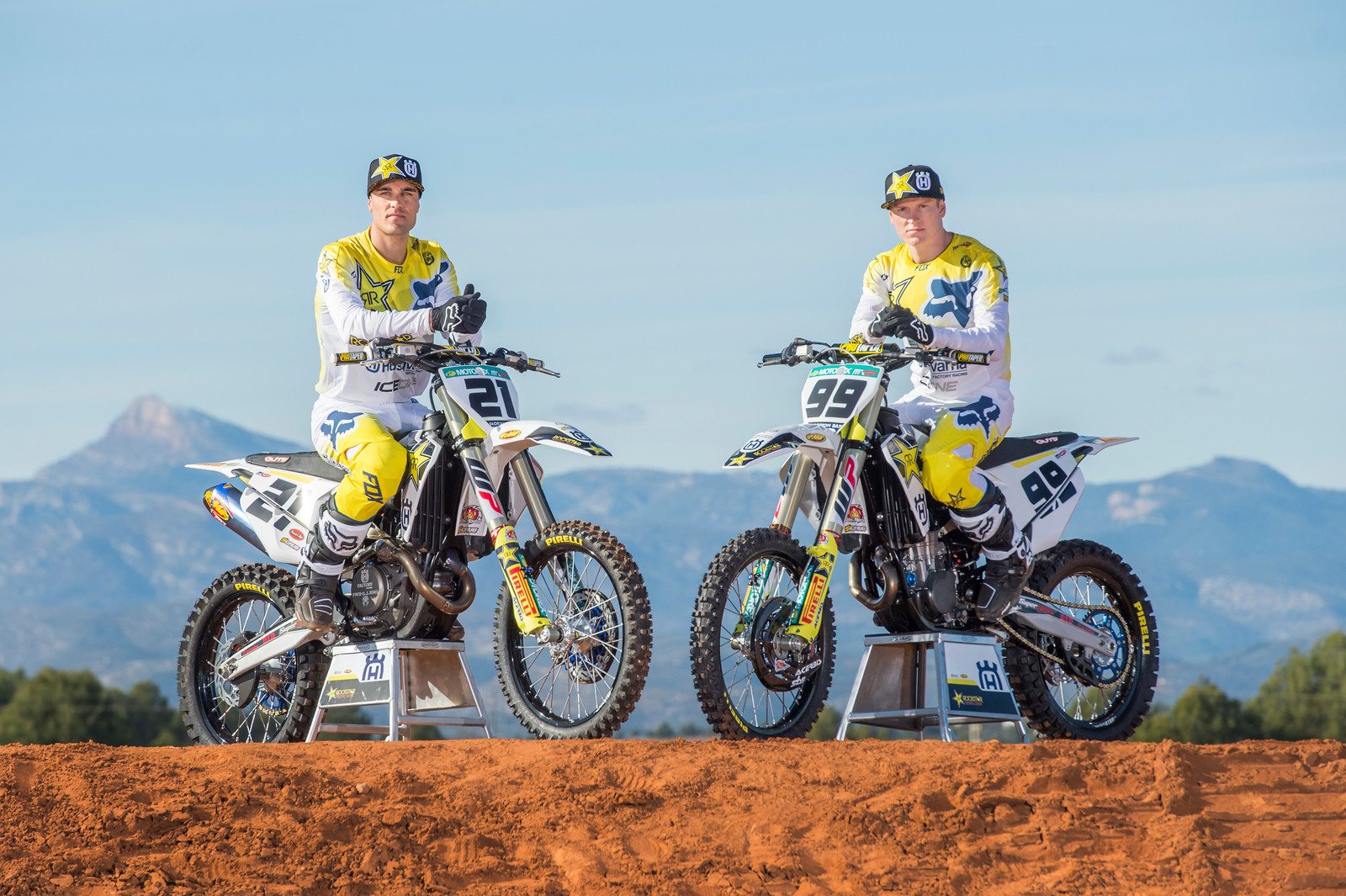 Gautier Paulin (left) and Max Anstie (right).