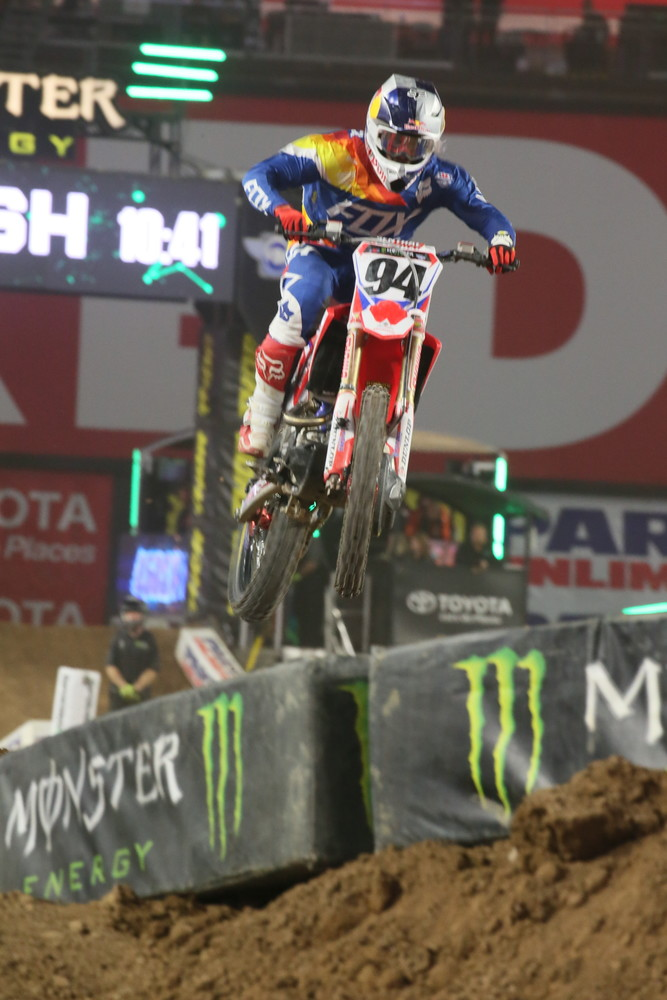Ken Roczen was solid all race long, and came home in third place.