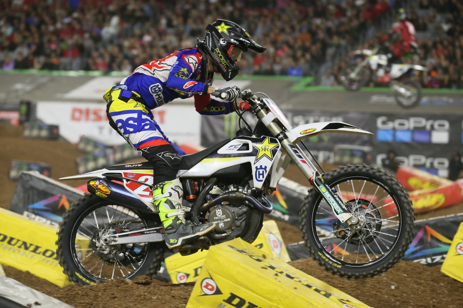 Jason Anderson looked to be riding tight and made several mistakes early in the Main Event, but he came back towards the end and finished fourth.