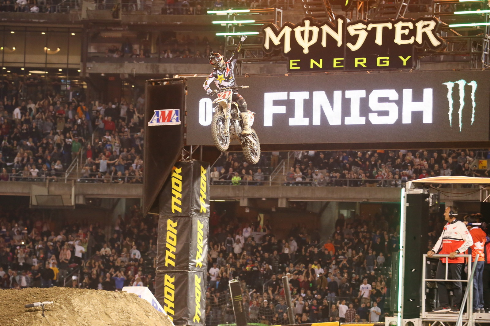 Jason Anderson took home the 450 Main Event win.