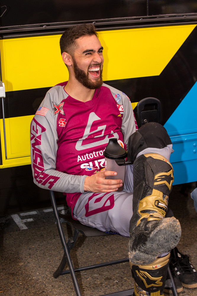 It's good to have Justin Bogle back at the races and smiling, along with some new Answer gear we haven't seen and the latest LE Alpinestar Tech 10s.