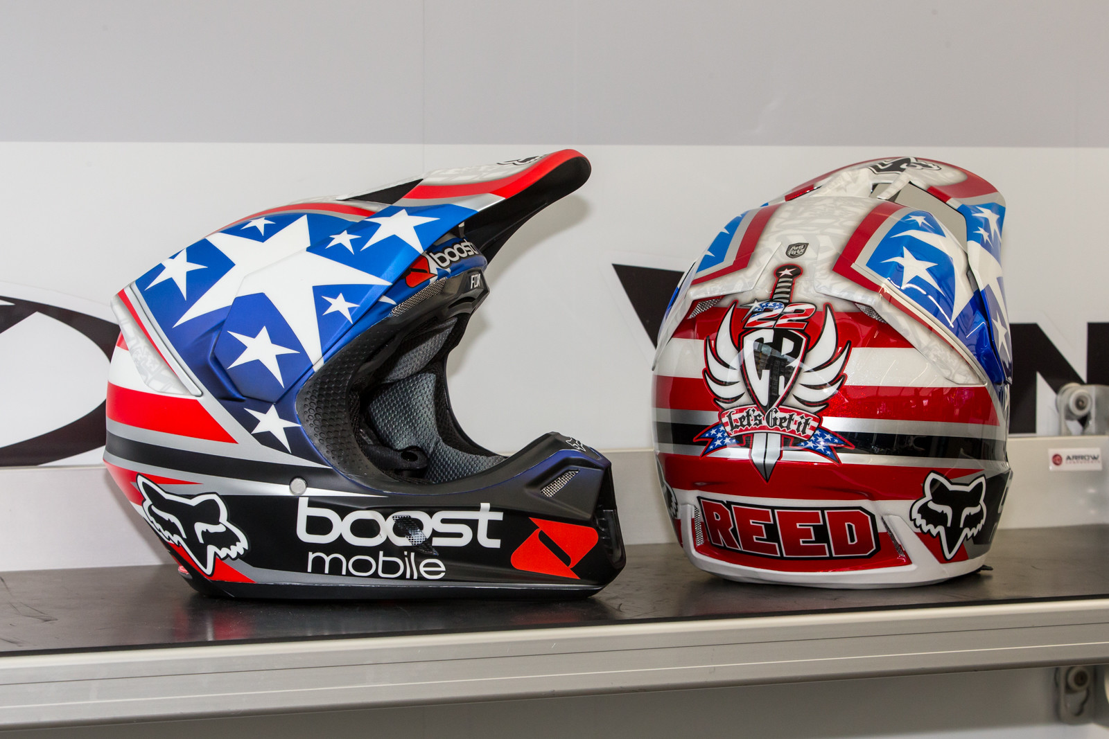 Chad paid tribute in another way as well, honoring Nicky Hayden with a replica helmet, similar to what Nicky would use.